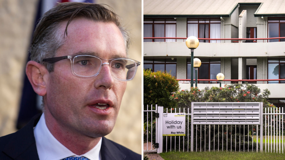 NSW Treasurer Dominic Perrottet has announced a two-month eviction freeze. (Source: Getty)