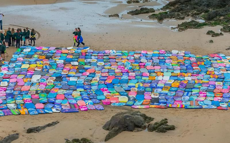 During just one day environmental organisation BeachCare collected more than 600 alone on Cornish beaches - SWNS - Bristol +44 (0)1179066550