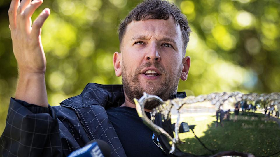 Dylan Alcott said his experiences hosting the AFL Footy Show helped him deal with unwarranted online abuse. (Photo by Darrian Traynor/Getty Images)