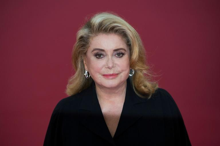 The French actress Catherine Deneuve is in a Paris hospital after suffering a small stroke, her family told AFP Wednesday (AFP Photo/LOIC VENANCE)