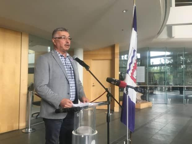N.W.T. MP Michael McLeod said new air terminal will support 'support Canada's economic recovery.' (Katie Toth/CBC - image credit)