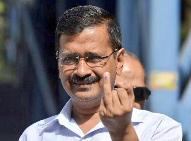 Kejriwal after he cast his vote