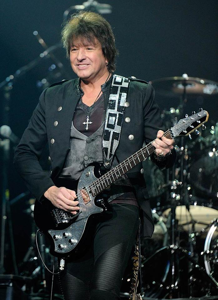 "Guitarist Richie Sambora auditioned for famous bands Kiss and Poison when he was first trying to make it big, but thankfully, he was rejected. The rocker ended up in Bon Jovi, where he replaced the original lead guitarist and jammed to tracks like ""I'll Be There for You"" and ""It's My Life."" Ethan Miller/<a href=""http://www.gettyimages.com/"" target=""new"">GettyImages.com</a> - March 19, 2011"