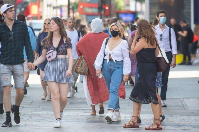 People out and about in central London
