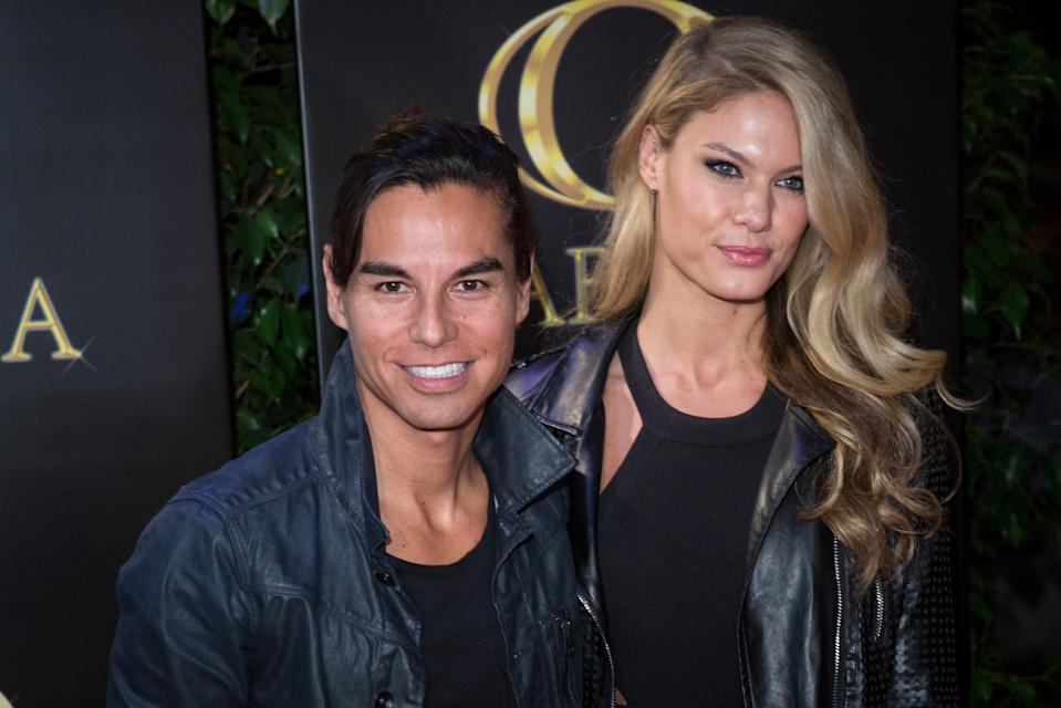 MADRID, SPAIN - FEBRUARY 19:  (L-R) Julio Iglesias Jr and his wife Charisse Verhaert attend his 45th birthday party at Gabana Club on February 19, 2018 in Madrid, Spain.  (Photo by Pablo Cuadra/Getty Images)