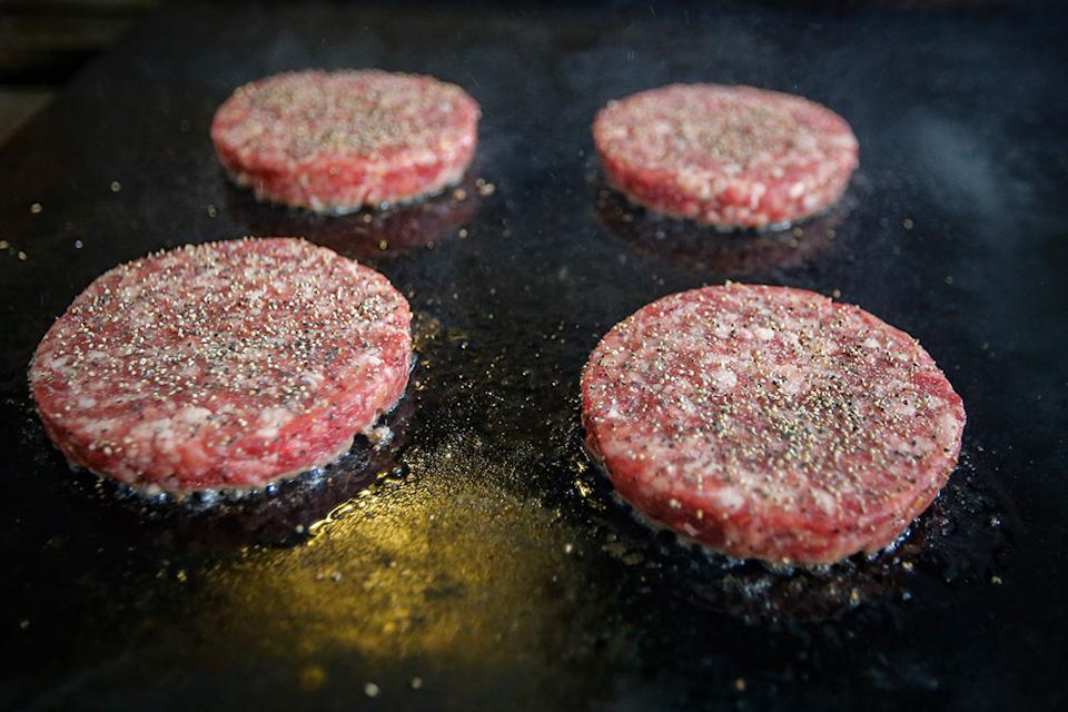 myBurgerLab prepared the beef patties according to Taiki's requirements.