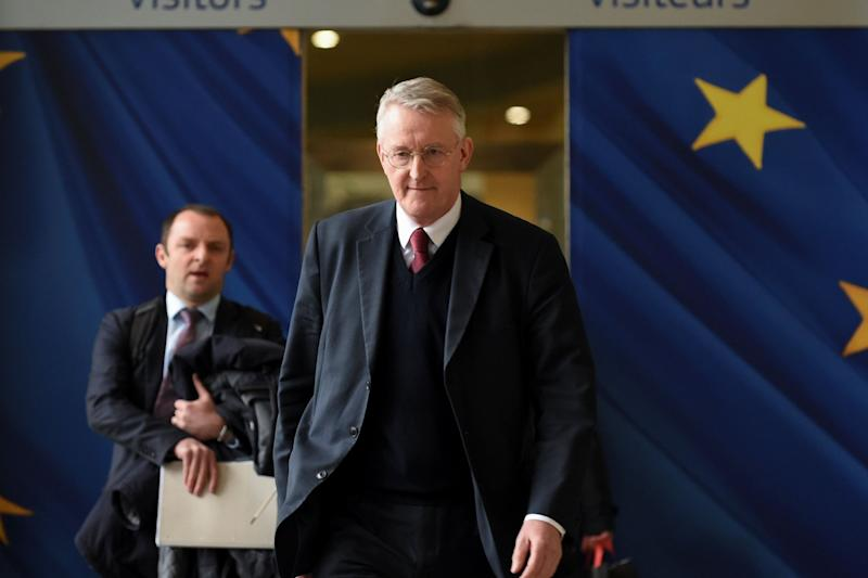 Labour MP Hilary Benn leaves after a meeting with the Secretary General of the European Commission and Britain's Ambassador to the European Union (AFP/Getty Images)