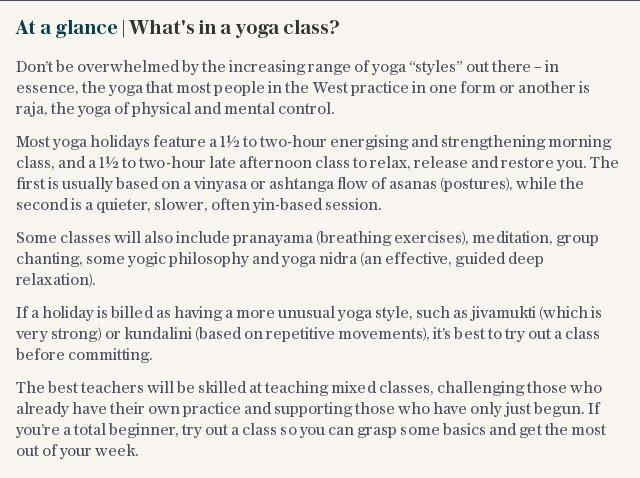 At a glance | What's in a yoga class?