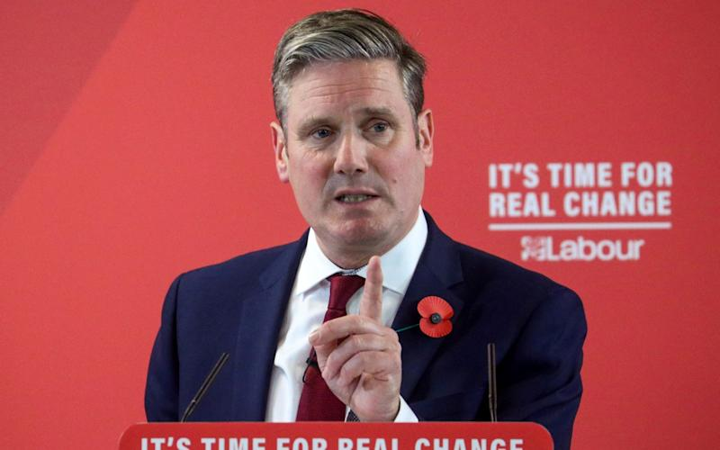 Sir Keir's aides are hoping that the speech on Tuesday will draw a line under the leadership of his predecessor Jeremy Corbyn - HANNAH MCKAY
