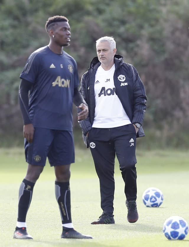 Jose Mourinho fell out with Paul Pogba during the end of his time at Manchester United (Martin Rickett/PA).