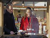 <p>The Duke and Duchess of Cambridge got in the holiday spirit by toasting marshmallows together at Cardiff Castle. </p>