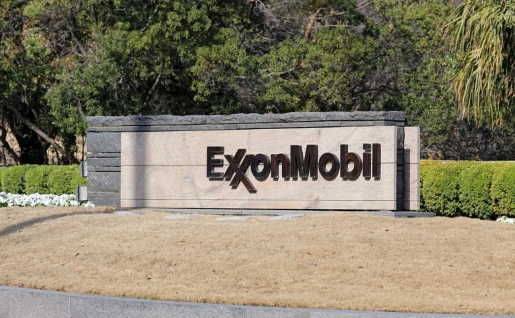 Exxon Mobil Corporation (NYSE:XOM), Sign, headquarters, Logo, Symbol, Building, Gas, Oil