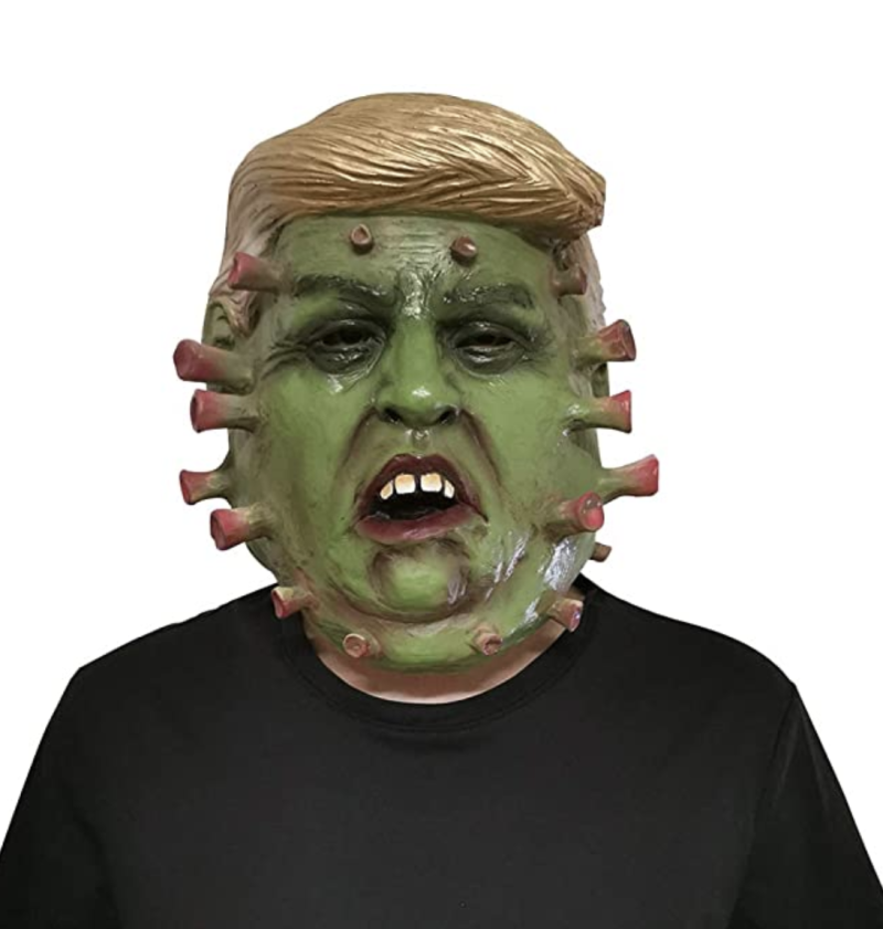This CATNON Halloween masks is part President Trump, part coronavirus. (Photo: CATNON/Amazon.com)