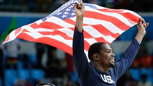 The U.S. Olympic men's basketball team won its third straight gold medal and did it easily, beating Serbia 96-66 on Sunday.