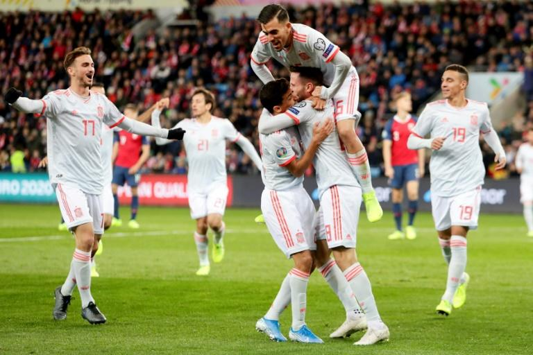 Saul Niguez struck just after half-time but Spain's six-match winning run in qualifying came to an end in Norway