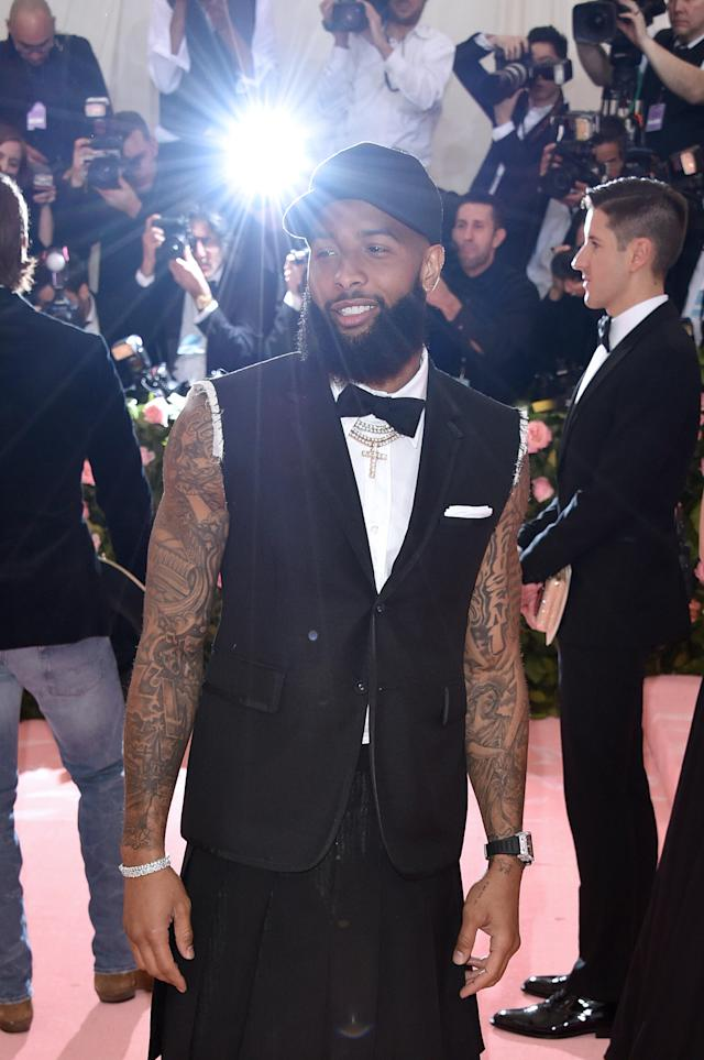 Odell Beckham Jr. attends The 2019 Met Gala Celebrating Camp: Notes On Fashion at The Metropolitan Museum of Art on May 06, 2019 in New York City. (Photo by John Shearer/Getty Images for THR)