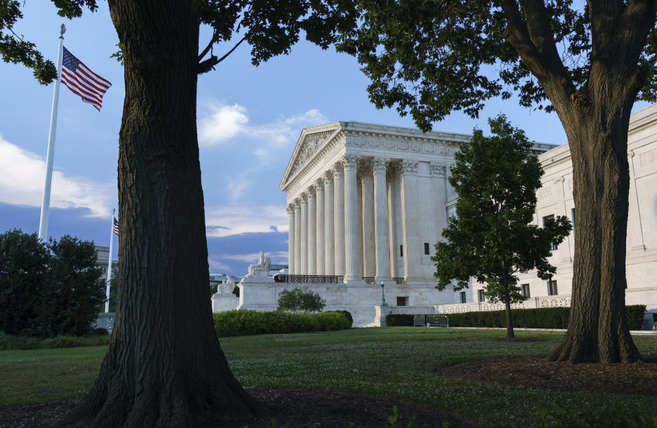 The Supreme Court is seen in Washington, Wednesday evening, June 30, 2021, as final decisions of the term are anticipated. (AP Photo/J. Scott Applewhite)