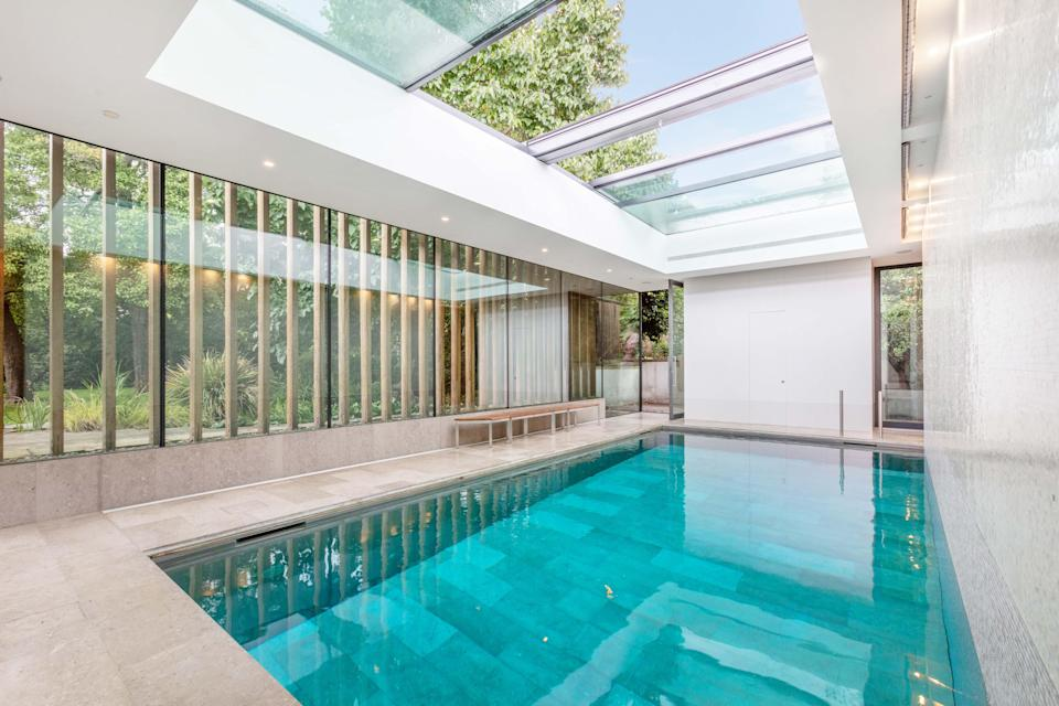A cool £230k a year: the indoor pool at this rental home in Richmond was a big draw for the 17 families who viewed it (Savills)