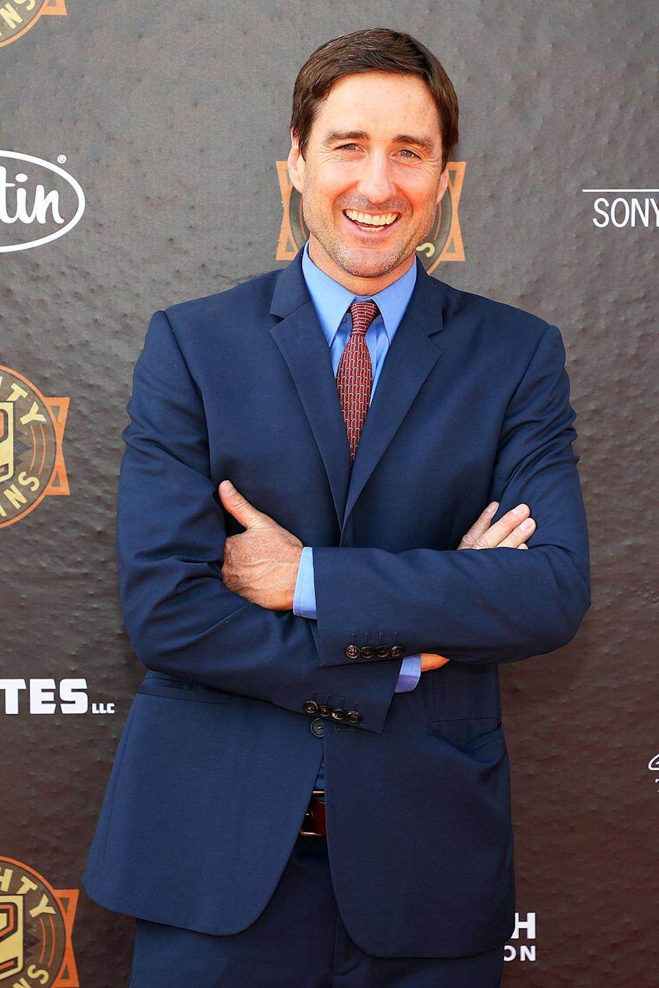 <p>Luke Wilson looks sharp in a blue suit at the Fort Worth premiere of <em>12 Mighty Orphans</em> at the ISIS Theater on June 7 in Fort Worth, Texas.</p>
