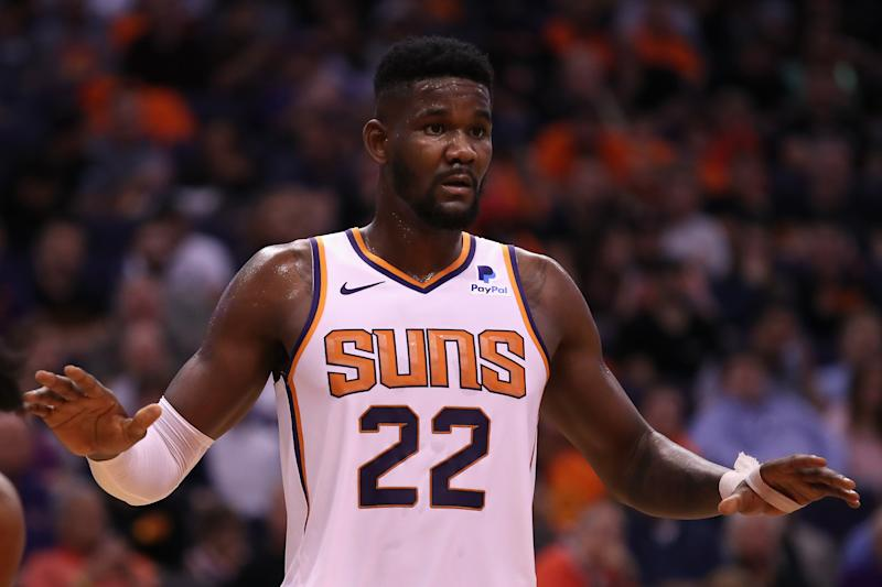 Deandre Ayton of the Phoenix Suns during the NBA.