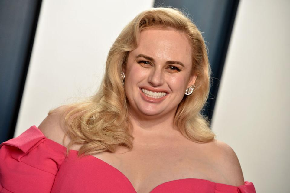 Rebel Wilson has opened up about her health and fitness transformation, pictured at the Vanity Fair Oscar Party February, 2020 (Getty Images)