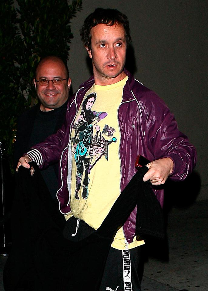 "Comedian Pauly Shore reminisces about his good old days by wearing a vintage ""Totally Pauly"" shirt out on the town. AKM/<a href=""http://www.x17online.com"" target=""new"">X17 Online</a> - January 7, 2009"