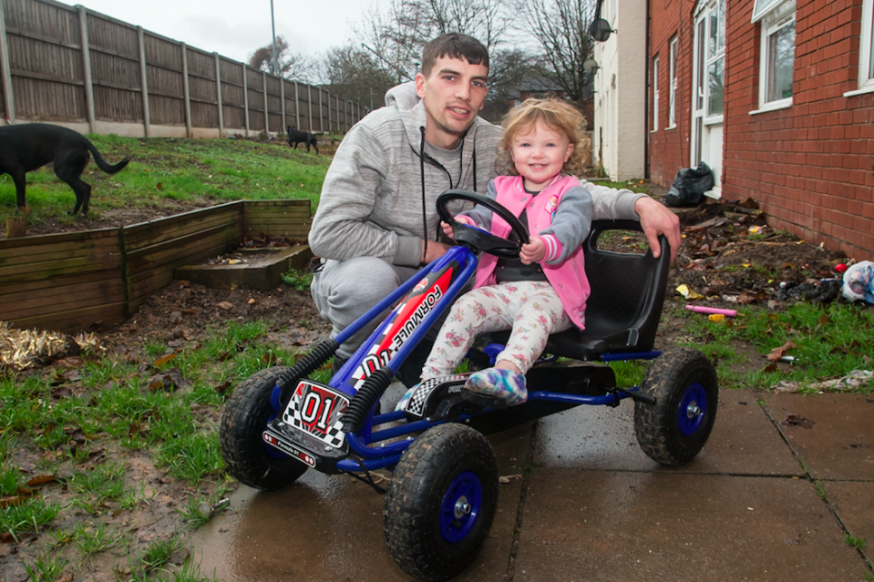 <em>The dad-of-three was told the wooden swing and toy cars he left out were a fire risk (SWNS)</em>