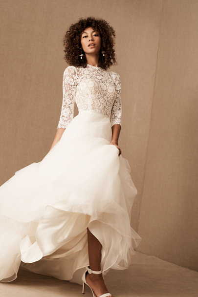 """<h2><a href=""""https://www.bhldn.com/"""" rel=""""nofollow noopener"""" target=""""_blank"""" data-ylk=""""slk:BHLDN"""" class=""""link rapid-noclick-resp"""">BHLDN</a></h2><br>The most traditional bridal retailer on the list, Anthropologie's bridal brand also offers the biggest selection of wedding styles. If you're on a tight deadline, check out the<a href=""""https://www.bhldn.com/categories/bride-last-minute"""" rel=""""nofollow noopener"""" target=""""_blank"""" data-ylk=""""slk:in-stock and ready-to-ship section"""" class=""""link rapid-noclick-resp""""> in-stock and ready-to-ship section</a> of the site which currently features popular brands like Jenny Yoo, Amsale, and Watters."""