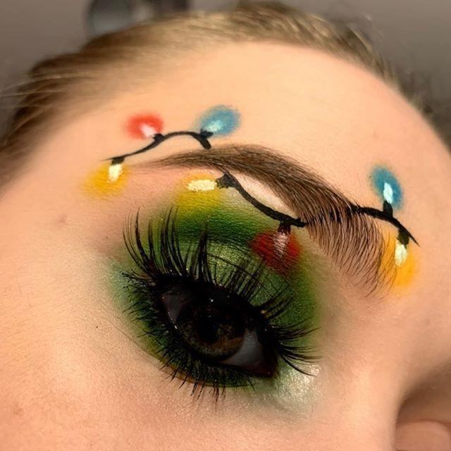 """<p>Bright idea right here! Draw the cord and bulb bases with a fine-point eyeliner around your brow, then apply shadow colors of your liking in a circle shape to imitate the """"glow."""" </p><p><a class=""""link rapid-noclick-resp"""" href=""""https://www.amazon.com/Eyeliner-Stamp-Wingliner-Vantica-Smudge-proof/dp/B089WFKR1H/?tag=syn-yahoo-20&ascsubtag=%5Bartid%7C10050.g.34534998%5Bsrc%7Cyahoo-us"""" rel=""""nofollow noopener"""" target=""""_blank"""" data-ylk=""""slk:SHOP LIQUID EYELINER"""">SHOP LIQUID EYELINER</a> </p><p><a href=""""https://www.instagram.com/p/B6BtT7upf7-/?utm_source=ig_embed&utm_campaign=loading"""" rel=""""nofollow noopener"""" target=""""_blank"""" data-ylk=""""slk:See the original post on Instagram"""" class=""""link rapid-noclick-resp"""">See the original post on Instagram</a></p>"""