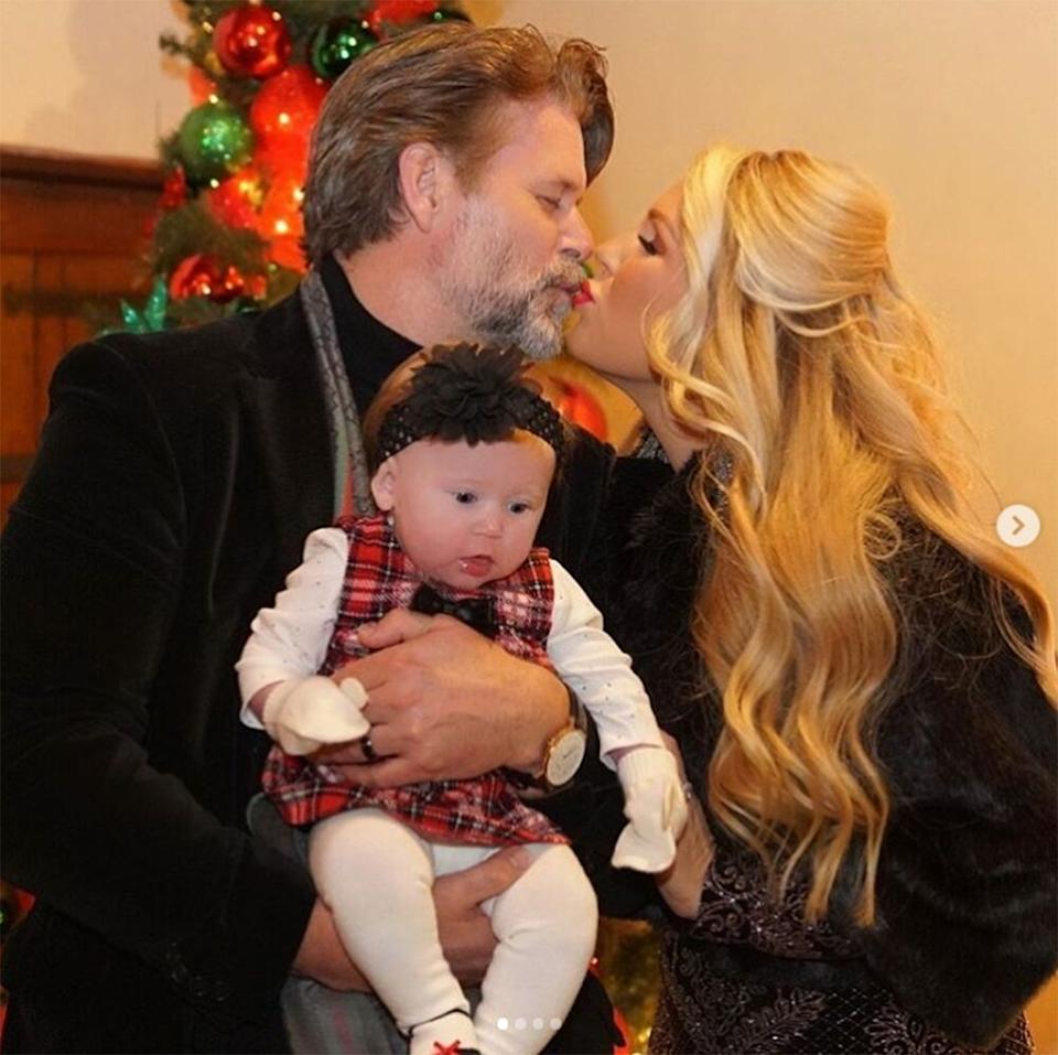 Slade Smiley and Gretchen Rossi with daughter Skylar Gray