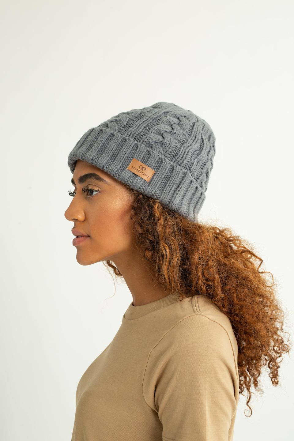 """<h2>Grace Eleyae Dark Gray Foldover Warm Slap</h2><br>Torn on which new curl-friendly hat to purchase? Just know that <a href=""""https://www.graceeleyae.com/collections/oprahs-favorite-things-2020"""" rel=""""nofollow noopener"""" target=""""_blank"""" data-ylk=""""slk:Oprah vouches for this one from Grace Eleyae."""" class=""""link rapid-noclick-resp"""">Oprah vouches for this one from Grace Eleyae.</a> The brand is notorious for its line of """"Slaps,"""" a.k.a. satin-lined caps, and recently added a weather-friendly collection. We love this knitted option, which features the brand's signature satin interior but will still keep your head warm. It also has hidden adjustable drawstrings so you can tighten your hat as needed.<br><br><strong>Grace Eleyae</strong> Dark Grey Foldover Warm Slap, $, available at <a href=""""https://www.graceeleyae.com/collections/foldover-warm-slap/products/dark-gray-foldover-warm-slap-1"""" rel=""""nofollow noopener"""" target=""""_blank"""" data-ylk=""""slk:Grace Eleyae"""" class=""""link rapid-noclick-resp"""">Grace Eleyae</a>"""