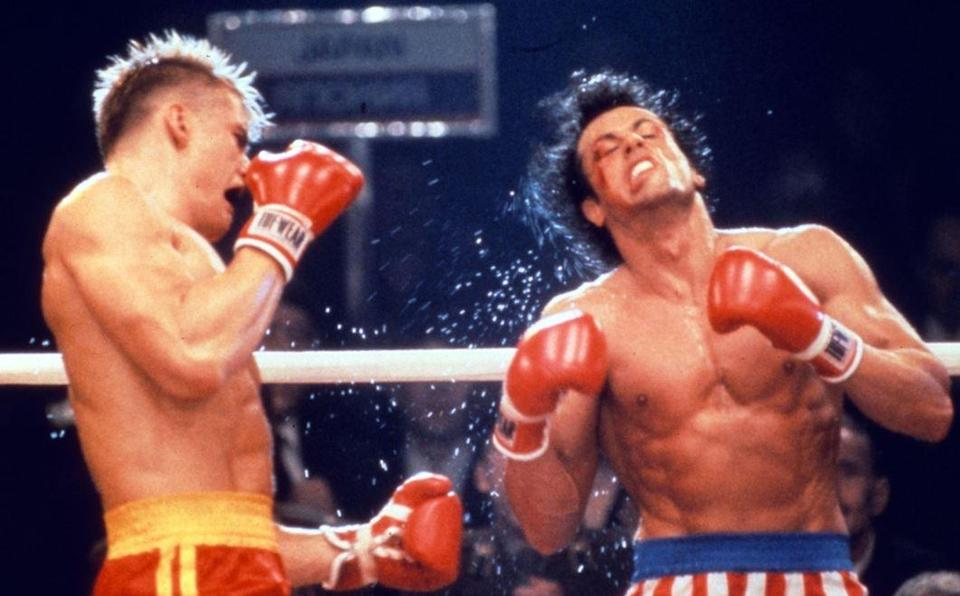 Pelea final de Rocky IV (Fotografía: Getty)