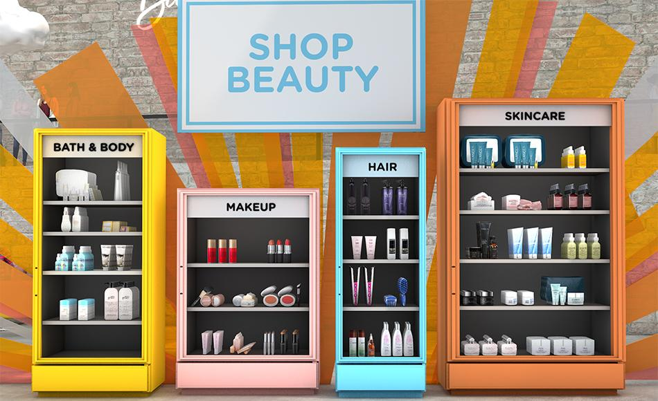 Shop your favorite products at a discount from Beauty Bash kiosks. (Photo: HSN/QVC)