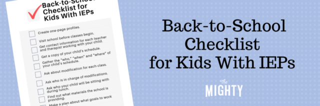 Back-to-School Checklist for Kids With IEPs