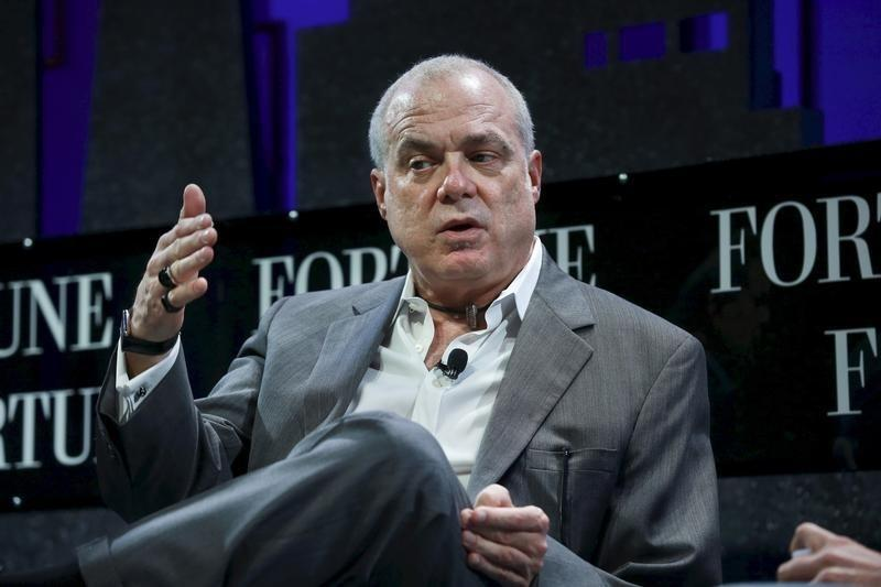 Mark Bertolini, Chairman and CEO of Aetna, participates in a panel discussion at the 2015 Fortune Global Forum in San Francisco