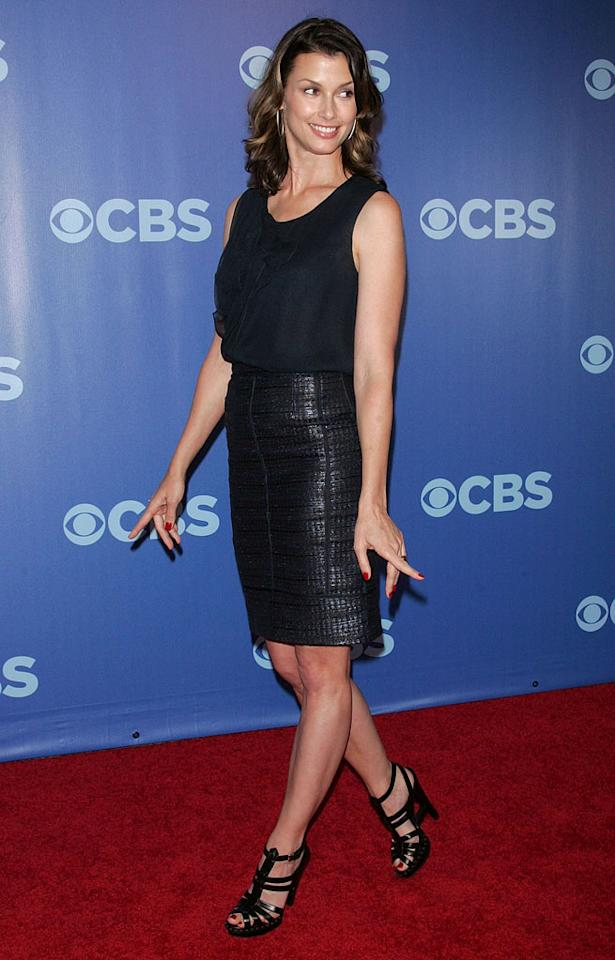 """<a href=""""/bridget-moynahan/contributor/32640"""">Bridget Moynahan</a> (""""<a href=""""/blue-bloods/show/46570"""">Blue Bloods</a>"""") attends the 2010 CBS Upfront at The Tent at Lincoln Center on May 19, 2010 in New York City."""