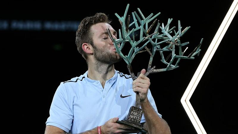 The title win in Paris saw Sock clinch the final ATP Finals spot. Pic: getty