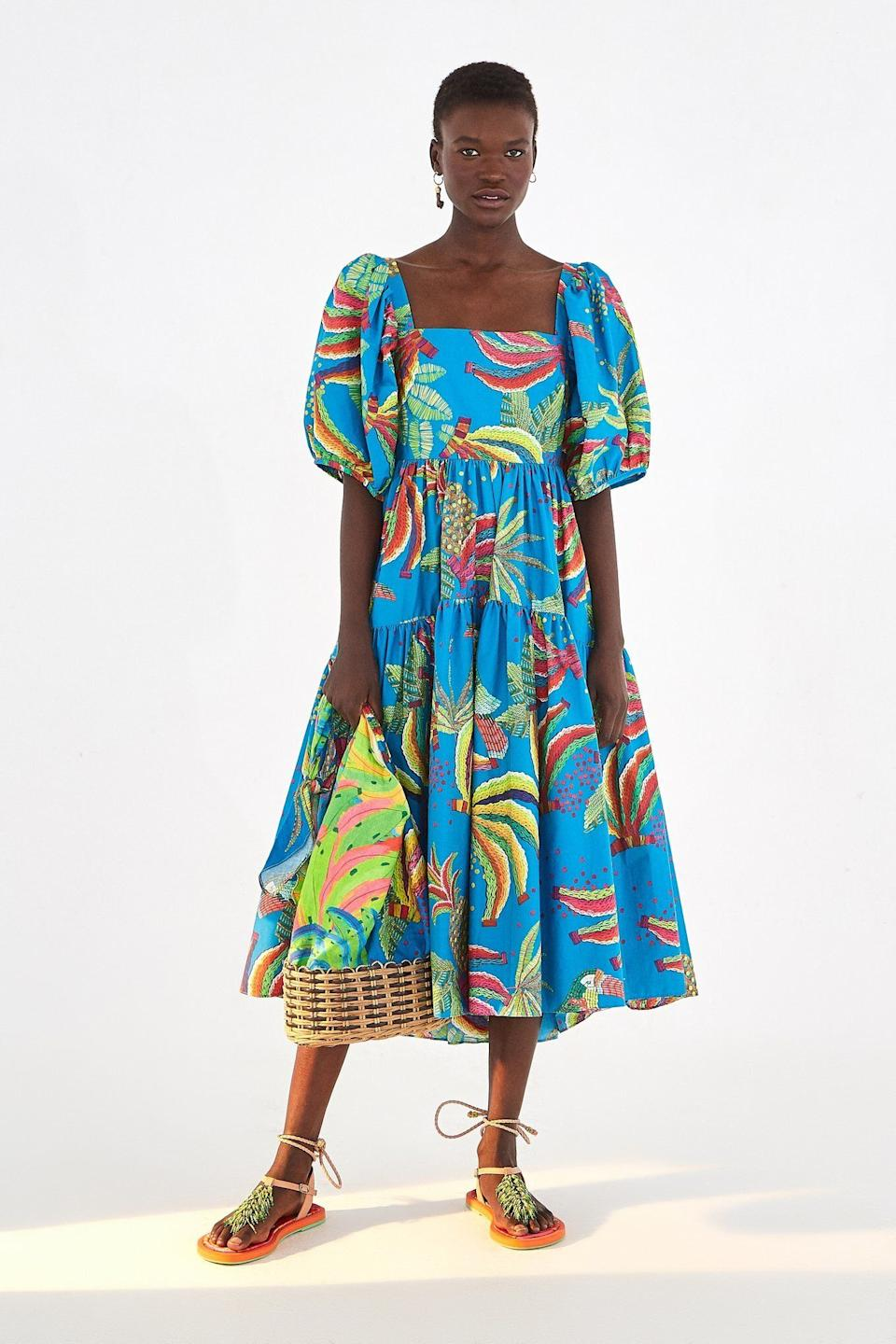"""<a href=""""https://fave.co/2yX7M9b"""" target=""""_blank"""" rel=""""noopener noreferrer"""">Farm Rio</a> is Brazilian fashion retailer that carries bright prints and bold silhouettes. It also plants a tree in the Amazon for every purchase made. The brand was founded by Katia Barros, who wanted to launch a clothing collection thatembodies the feminine spirit and vibrant colors of Rio. Shop Farm Rio at <a href=""""https://fave.co/2yX7M9b"""" target=""""_blank"""" rel=""""noopener noreferrer"""">Farm Rio</a> and <a href=""""https://fave.co/2ZAWTnZ"""" target=""""_blank"""" rel=""""noopener noreferrer"""">Shopbop</a>."""