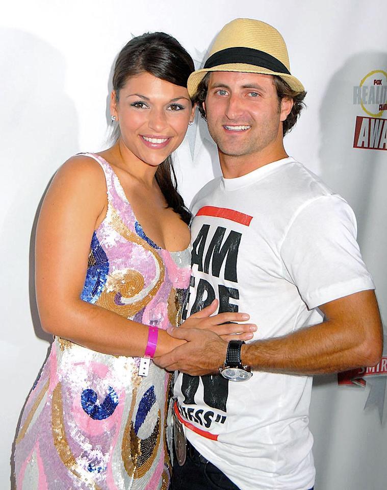 "Former ""Bachelorette"" DeAnna Pappas and the new love of her life, Jesse Csinczak, got cozy on the carpet. Barry King/<a href=""http://www.wireimage.com"" target=""new"">WireImage.com</a> - September 24, 2008"
