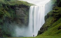 """<p>How about a moon-bow with your Northern Lights? Although devilishly hard to predict, the spray from south-facing <a rel=""""nofollow noopener"""" href=""""https://www.south.is/en/moya/toy/index/place/skogafoss-waterfall"""" target=""""_blank"""" data-ylk=""""slk:Skógafoss waterfall"""" class=""""link rapid-noclick-resp"""">Skógafoss waterfall</a> in southern Iceland (in prime aurora-viewing territory) often produces a moon-bow on or near full moon. It's like a rainbow, but produced by the light from the moon rather than the sun.</p>"""