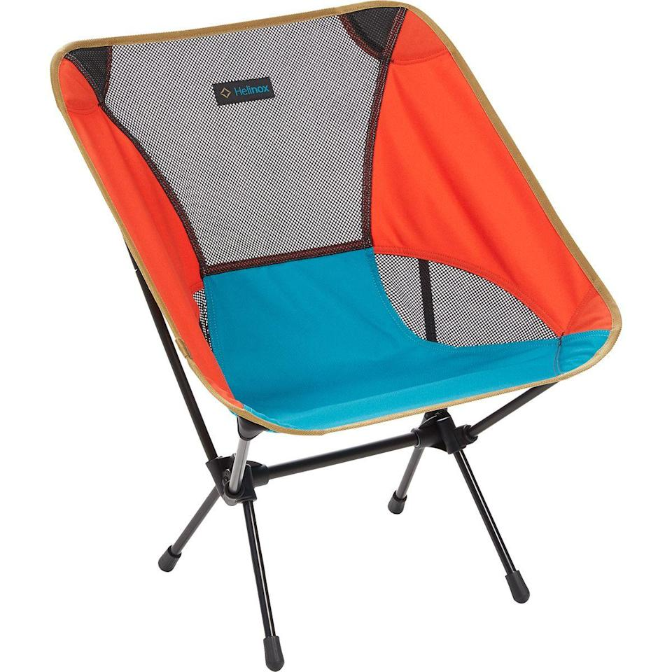 "<h3>Lightweight Camp Chair</h3> <br>With a quick-drying fabrication that's available in a host of design-friendly colors and a strong-but-lightweight aluminum frame, this Helinox chair can be packed into a bundle weighing no more than two pounds, making it very easy to tote on to the beach, to a campsite, or into your friend's backyard for a socially-distant barbecue. They're on the pricier side, but seem to be worth every penny.<br><br><strong>Helinox</strong> Chair One Camp Chair, $, available at <a href=""https://go.skimresources.com/?id=30283X879131&url=https%3A%2F%2Fwww.backcountry.com%2Fhelinox-chair-one-camp-chair"" rel=""nofollow noopener"" target=""_blank"" data-ylk=""slk:Backcountry"" class=""link rapid-noclick-resp"">Backcountry</a><br>"