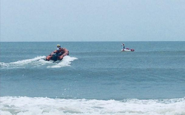 PHOTO: The Oak Island Water Rescue team helped get to an 8-year-old boy stranded on an inflatable unicorn who drifted out to sea. (Oak Island Water Rescue)