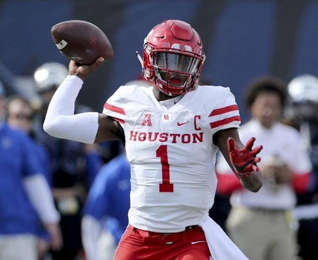 Houston quarterback Greg Ward was invited to the scouting combine as a receiver. (AP)
