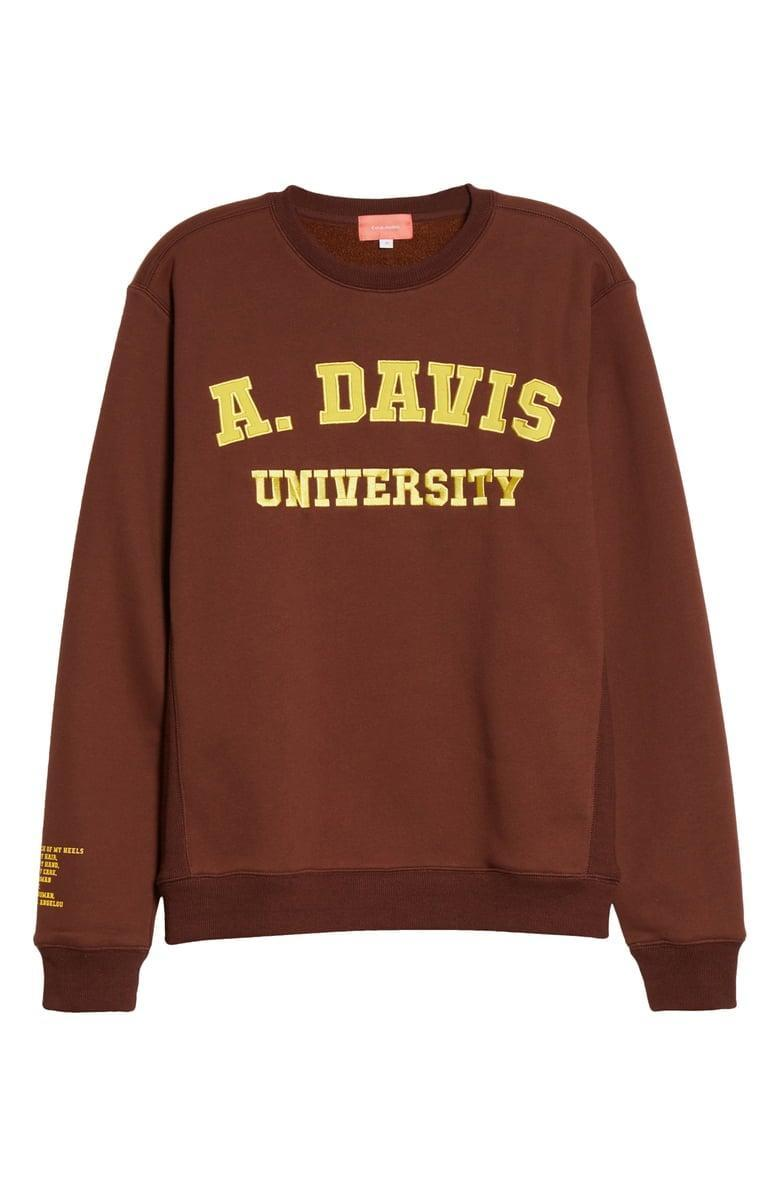 <p>Any Angela Davis fans will be excited to wear this <span>Coral Studios Angela Davis University Sweatshirt</span> ($110).</p>
