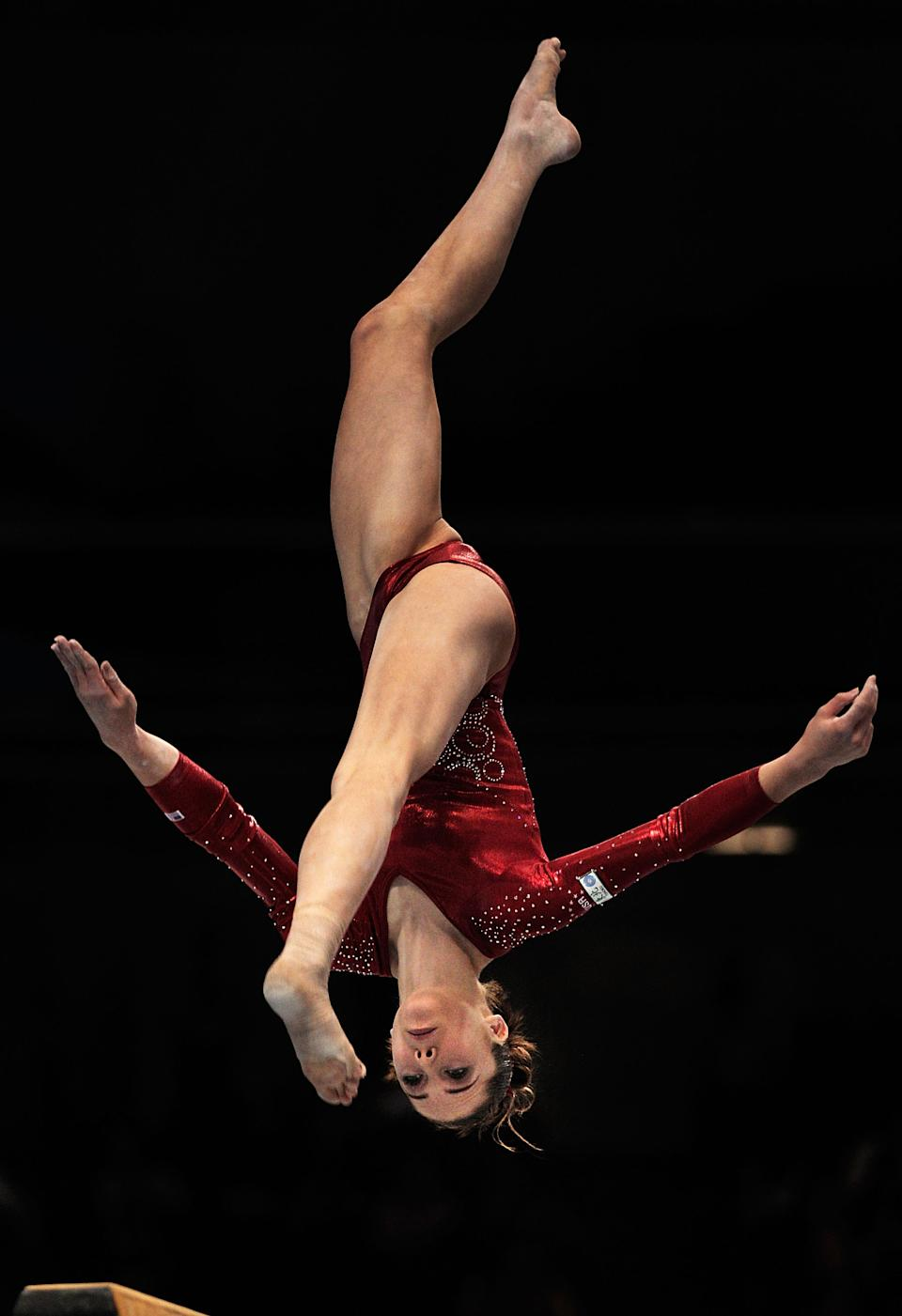McKayla Maroney of the USA competes on the Beam apparatus in the women's qualification during day two of the Artistic Gymnastics World Championships Tokyo 2011. (Adam Pretty/Getty Images)