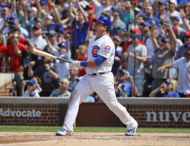 "The <a class=""link rapid-noclick-resp"" href=""/mlb/teams/chc/"" data-ylk=""slk:Chicago Cubs"">Chicago Cubs</a> moved up three spots in this week's MLB Power Rankings. (Getty Images)"