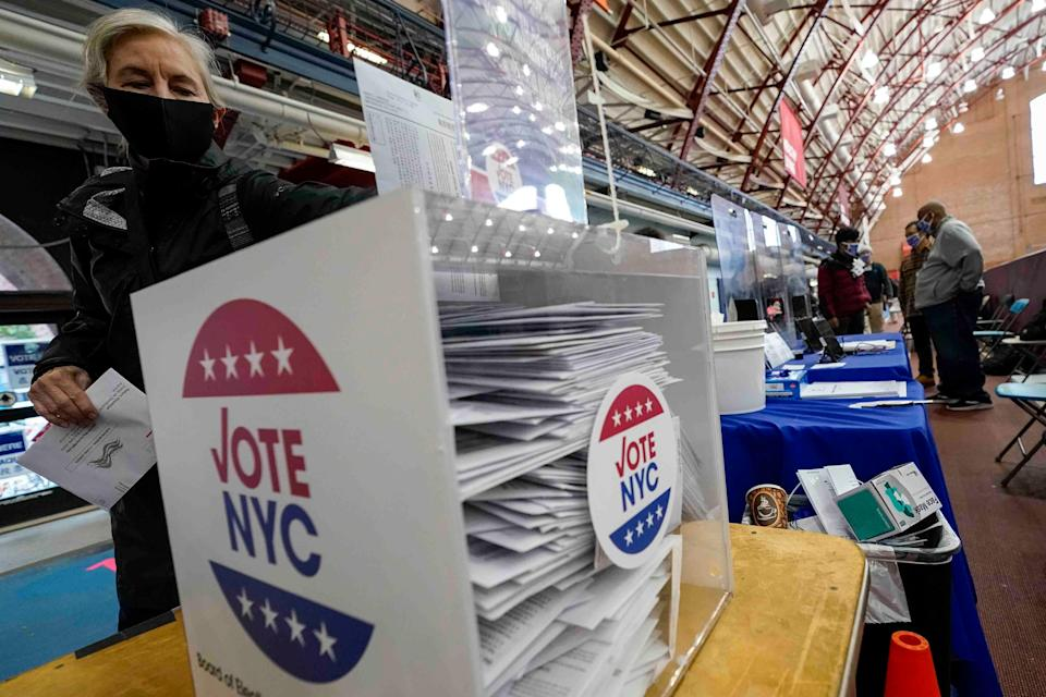 New Yorkers vote in the 2021 Democratic primaries for mayor and other citywide offices (AP)