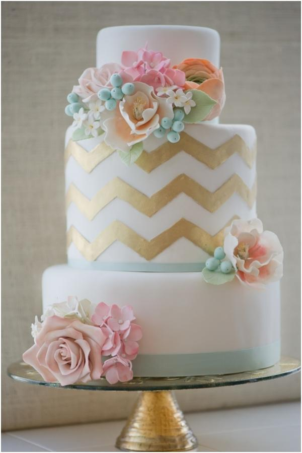"""<div class=""""caption-credit""""> Photo by: Erica O'brien Cake Design</div>This cake is gorgeous; gold chevron plus pink and mint details is a winning combination. <br> <br> <a href=""""http://lover.ly/search?e=0&q=mint&utm_source=shine2-7-13chevron&utm_medium=guest&utm_campaign=shine2-7-13chevron"""" rel=""""nofollow noopener"""" target=""""_blank"""" data-ylk=""""slk:Get more in mint, spring's hottest color"""" class=""""link rapid-noclick-resp"""">Get more in mint, spring's hottest color</a> <br> <br> Photo by: <a href=""""http://www.ericaobrien.com/index.php"""" rel=""""nofollow noopener"""" target=""""_blank"""" data-ylk=""""slk:Erica Obrien Cake Design"""" class=""""link rapid-noclick-resp"""">Erica Obrien Cake Design</a> on <a href=""""http://www.heartloveweddings.com/2012/06/top-10-biggest-most-favorite-hits-inspiration-boards-wedding-planning-tips/"""" rel=""""nofollow noopener"""" target=""""_blank"""" data-ylk=""""slk:Heart Love Weddings"""" class=""""link rapid-noclick-resp"""">Heart Love Weddings</a> via <a href=""""http://lover.ly/image/143002"""" rel=""""nofollow noopener"""" target=""""_blank"""" data-ylk=""""slk:Lover.ly"""" class=""""link rapid-noclick-resp"""">Lover.ly</a> <br> <br>"""