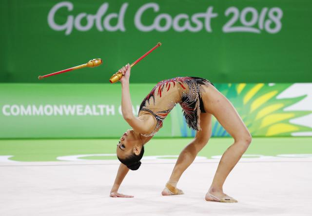 Rhythmic Gymnastics - Gold Coast 2018 Commonwealth Games - Individual Clubs Final - Coomera Indoor Sports Centre - Gold Coast, Australia - April 13, 2018. Kwan Dict Weng of Malaysia. REUTERS/David Gray