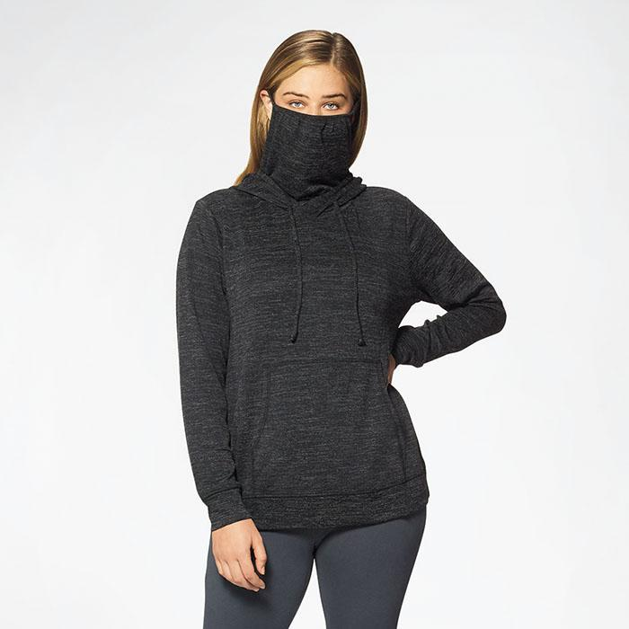 Hooded Pullover with Built-In Face Mask - 4